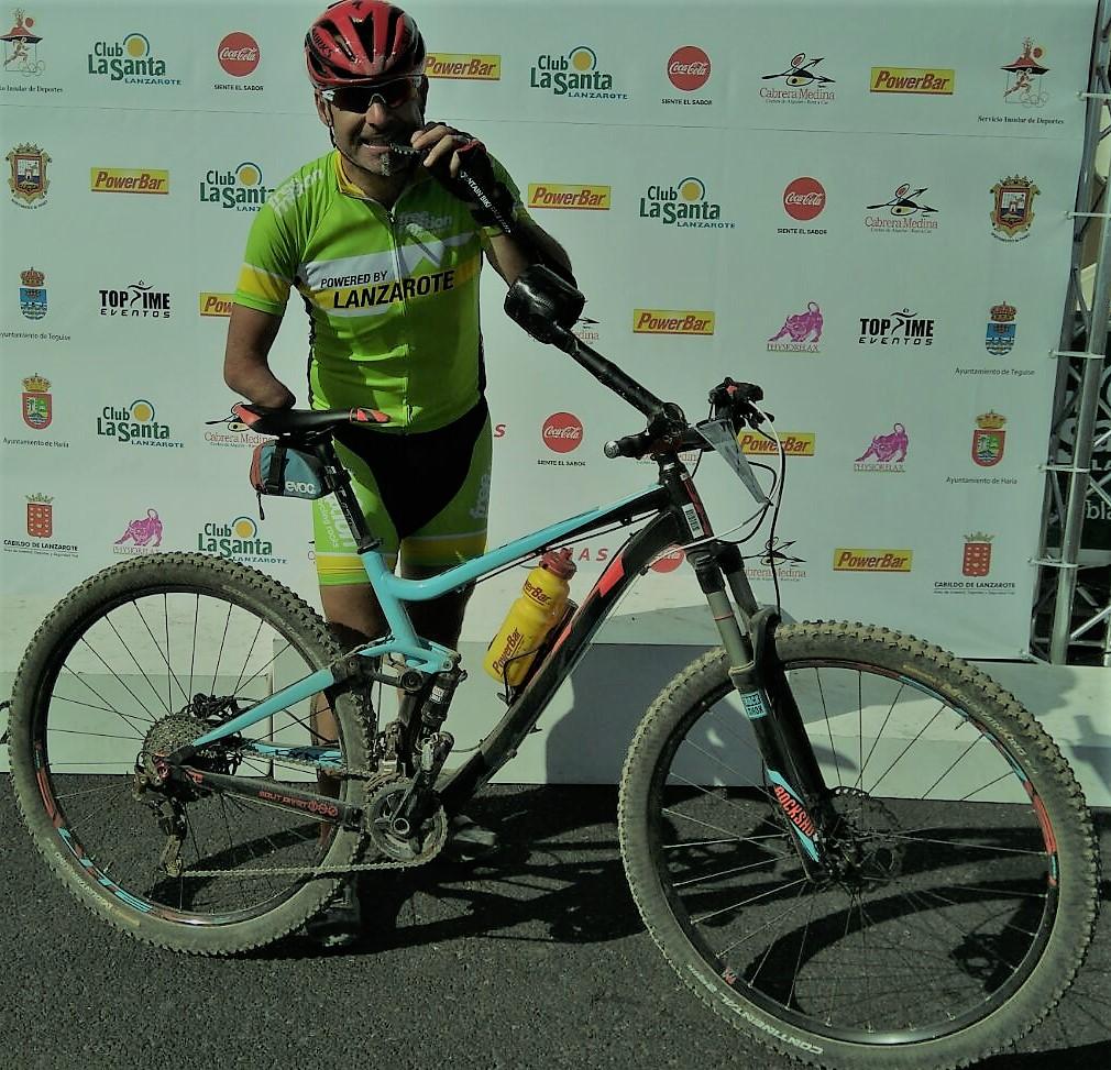 Toni Franco en la 4 Stage Mountain Bike Race Lanzarote